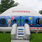 Spacebug inflatable hire